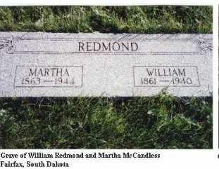 REDMOND, WILLIAM - Gregory County, South Dakota | WILLIAM REDMOND - South Dakota Gravestone Photos