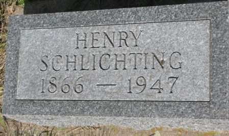SCHLICHTING, HENRY - Gregory County, South Dakota | HENRY SCHLICHTING - South Dakota Gravestone Photos
