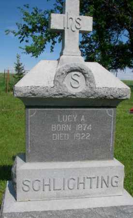 SCHLIGHTING, LUCY A. - Gregory County, South Dakota | LUCY A. SCHLIGHTING - South Dakota Gravestone Photos
