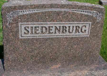 SIEDENBURG, PLOT - Gregory County, South Dakota | PLOT SIEDENBURG - South Dakota Gravestone Photos