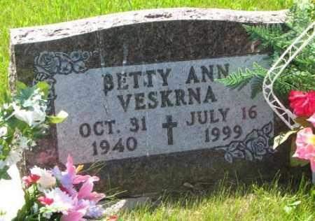 VESKRNA, BETTY ANN - Gregory County, South Dakota | BETTY ANN VESKRNA - South Dakota Gravestone Photos
