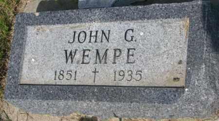 WEMPE, JOHN G. - Gregory County, South Dakota | JOHN G. WEMPE - South Dakota Gravestone Photos