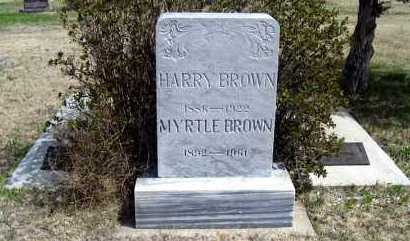 BROWN, MYRTLE - Haakon County, South Dakota | MYRTLE BROWN - South Dakota Gravestone Photos