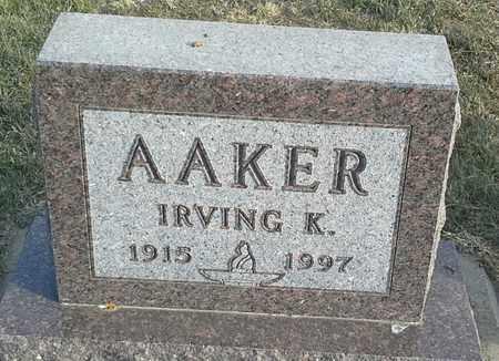 AAKER, IRVING K - Hamlin County, South Dakota   IRVING K AAKER - South Dakota Gravestone Photos