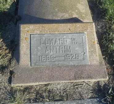 ANTRIM, EDWARD W - Hamlin County, South Dakota | EDWARD W ANTRIM - South Dakota Gravestone Photos
