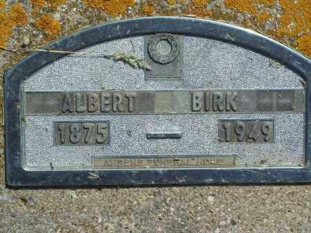 BIRK, ALBERT - Hamlin County, South Dakota | ALBERT BIRK - South Dakota Gravestone Photos
