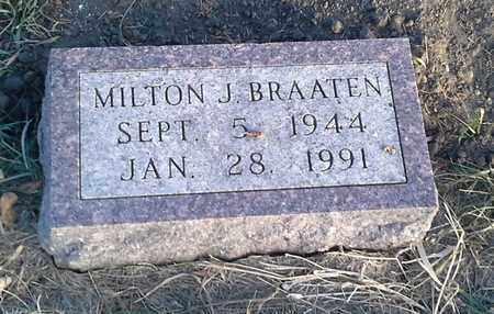 BRAATEN, MILTON J - Hamlin County, South Dakota   MILTON J BRAATEN - South Dakota Gravestone Photos
