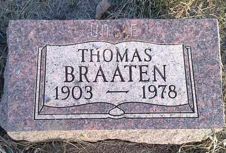BRAATEN, THOMAS - Hamlin County, South Dakota | THOMAS BRAATEN - South Dakota Gravestone Photos