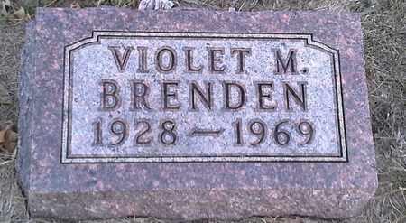 BRENDEN, VIOLET M - Hamlin County, South Dakota | VIOLET M BRENDEN - South Dakota Gravestone Photos