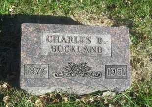 BUCKLAND, CHARLES D - Hamlin County, South Dakota   CHARLES D BUCKLAND - South Dakota Gravestone Photos