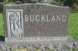 BUCKLAND, CHARLES D - Hamlin County, South Dakota | CHARLES D BUCKLAND - South Dakota Gravestone Photos