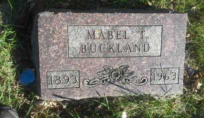 BUCKLAND, MABEL T - Hamlin County, South Dakota   MABEL T BUCKLAND - South Dakota Gravestone Photos