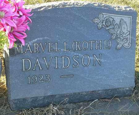 KOTHE DAVIDSON, MARVEL L - Hamlin County, South Dakota | MARVEL L KOTHE DAVIDSON - South Dakota Gravestone Photos