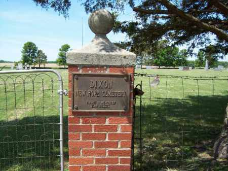 *DIXON, NEW HOPE - Hamlin County, South Dakota   NEW HOPE *DIXON - South Dakota Gravestone Photos