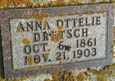 DRETSCH, ANNA OTTELIE - Hamlin County, South Dakota | ANNA OTTELIE DRETSCH - South Dakota Gravestone Photos