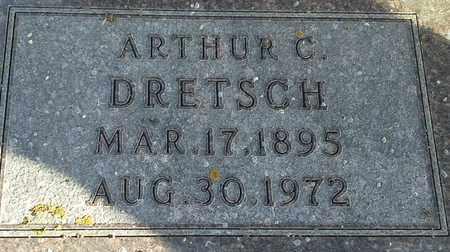 DRETSCH, ARTHUR C - Hamlin County, South Dakota | ARTHUR C DRETSCH - South Dakota Gravestone Photos