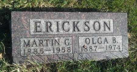 ERICKSON, OLGA B - Hamlin County, South Dakota | OLGA B ERICKSON - South Dakota Gravestone Photos