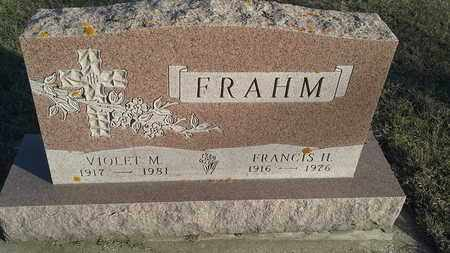 FRAHM, FRANCIS H - Hamlin County, South Dakota | FRANCIS H FRAHM - South Dakota Gravestone Photos