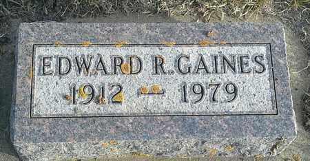 GAINES, EDWARD R - Hamlin County, South Dakota   EDWARD R GAINES - South Dakota Gravestone Photos