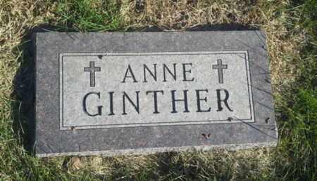 GINTHER, ANNE - Hamlin County, South Dakota | ANNE GINTHER - South Dakota Gravestone Photos