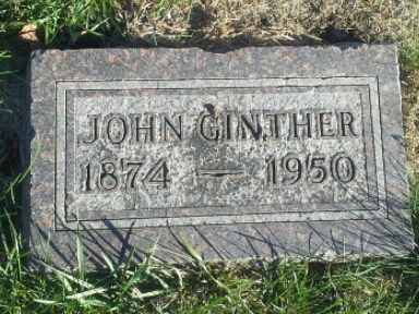 GINTHER, JOHN - Hamlin County, South Dakota | JOHN GINTHER - South Dakota Gravestone Photos