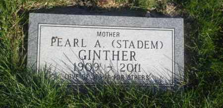 STADEM GINTHER, PEARL A - Hamlin County, South Dakota   PEARL A STADEM GINTHER - South Dakota Gravestone Photos