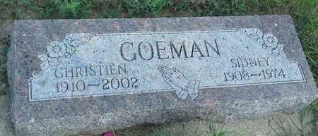 GOEMAN, CHRISTIEN - Hamlin County, South Dakota | CHRISTIEN GOEMAN - South Dakota Gravestone Photos