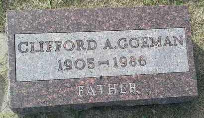 GOEMAN, CLIFFORD A - Hamlin County, South Dakota   CLIFFORD A GOEMAN - South Dakota Gravestone Photos