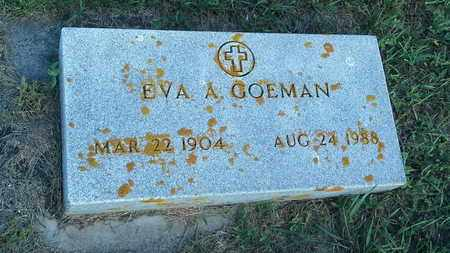 GOEMAN, EVA A - Hamlin County, South Dakota | EVA A GOEMAN - South Dakota Gravestone Photos