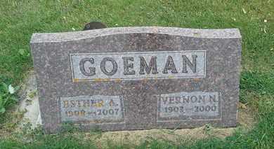 GOEMAN, VERNON N - Hamlin County, South Dakota | VERNON N GOEMAN - South Dakota Gravestone Photos