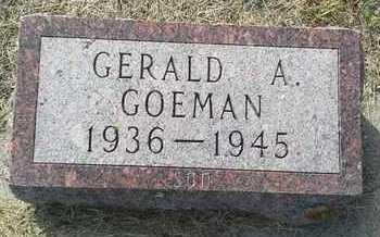 GOEMAN, GERALD A - Hamlin County, South Dakota | GERALD A GOEMAN - South Dakota Gravestone Photos