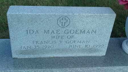 GOEMAN, IDA MAE - Hamlin County, South Dakota   IDA MAE GOEMAN - South Dakota Gravestone Photos