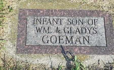 GOEMAN, INFANT SON - Hamlin County, South Dakota   INFANT SON GOEMAN - South Dakota Gravestone Photos