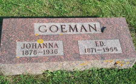 GOEMAN, ED - Hamlin County, South Dakota | ED GOEMAN - South Dakota Gravestone Photos