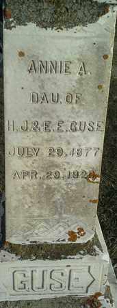 GUSE, ANNIE A - Hamlin County, South Dakota | ANNIE A GUSE - South Dakota Gravestone Photos
