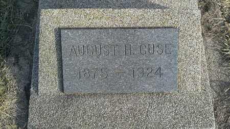 GUSE, AUGUST H - Hamlin County, South Dakota   AUGUST H GUSE - South Dakota Gravestone Photos