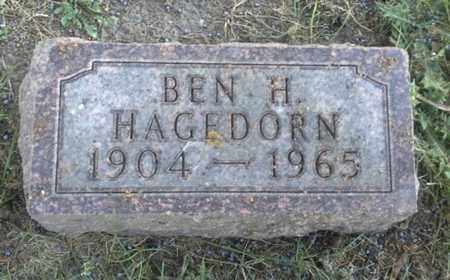 HAGEDORN, BEN H - Hamlin County, South Dakota | BEN H HAGEDORN - South Dakota Gravestone Photos