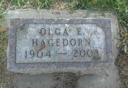 HAGEDRON, OLGA E - Hamlin County, South Dakota   OLGA E HAGEDRON - South Dakota Gravestone Photos