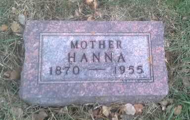 HALGELSTROM, HANNA - Hamlin County, South Dakota   HANNA HALGELSTROM - South Dakota Gravestone Photos