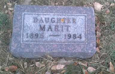 HALGELSTROM, MARIT - Hamlin County, South Dakota   MARIT HALGELSTROM - South Dakota Gravestone Photos