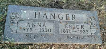HANGER, ERICK - Hamlin County, South Dakota | ERICK HANGER - South Dakota Gravestone Photos