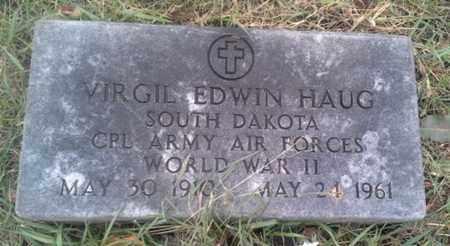 """HAUG, VIRGIL EDWIN """"MILITARY"""" - Hamlin County, South Dakota   VIRGIL EDWIN """"MILITARY"""" HAUG - South Dakota Gravestone Photos"""