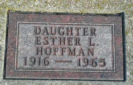 HOFFMAN, ESTHER L - Hamlin County, South Dakota | ESTHER L HOFFMAN - South Dakota Gravestone Photos