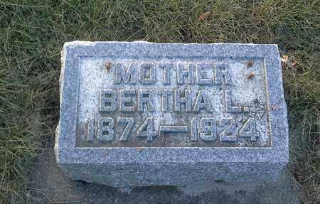 HOLM, BERTHA L - Hamlin County, South Dakota | BERTHA L HOLM - South Dakota Gravestone Photos