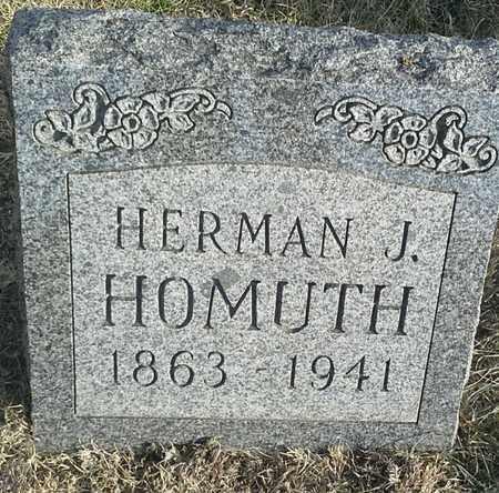 HOMUTH, HERMAN J - Hamlin County, South Dakota   HERMAN J HOMUTH - South Dakota Gravestone Photos
