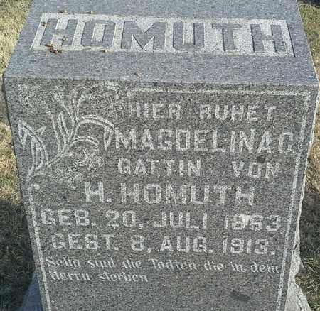 HOMUTH, MAGOELINAC - Hamlin County, South Dakota | MAGOELINAC HOMUTH - South Dakota Gravestone Photos