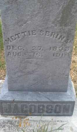 JACOBSON, METTIE SERINA - Hamlin County, South Dakota | METTIE SERINA JACOBSON - South Dakota Gravestone Photos