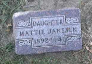 JANSSEN, MATTIE - Hamlin County, South Dakota | MATTIE JANSSEN - South Dakota Gravestone Photos
