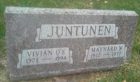 JUNTUNEN, MAYNARD W - Hamlin County, South Dakota   MAYNARD W JUNTUNEN - South Dakota Gravestone Photos