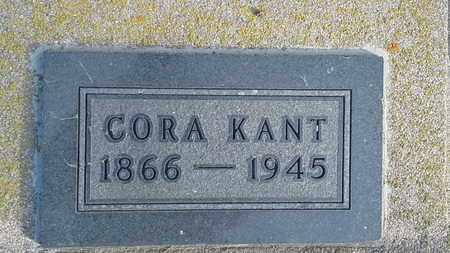 KANT, CORA - Hamlin County, South Dakota   CORA KANT - South Dakota Gravestone Photos